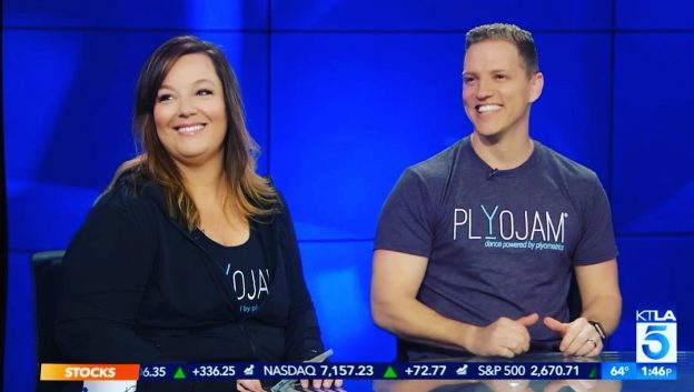 Interview with Jason Layden and Stacey Beaman of PlyoJam KTLA Channel 5