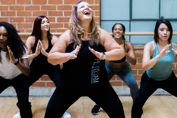 Stacey Beaman finds her best life teaching PlyoJam dance fitness.